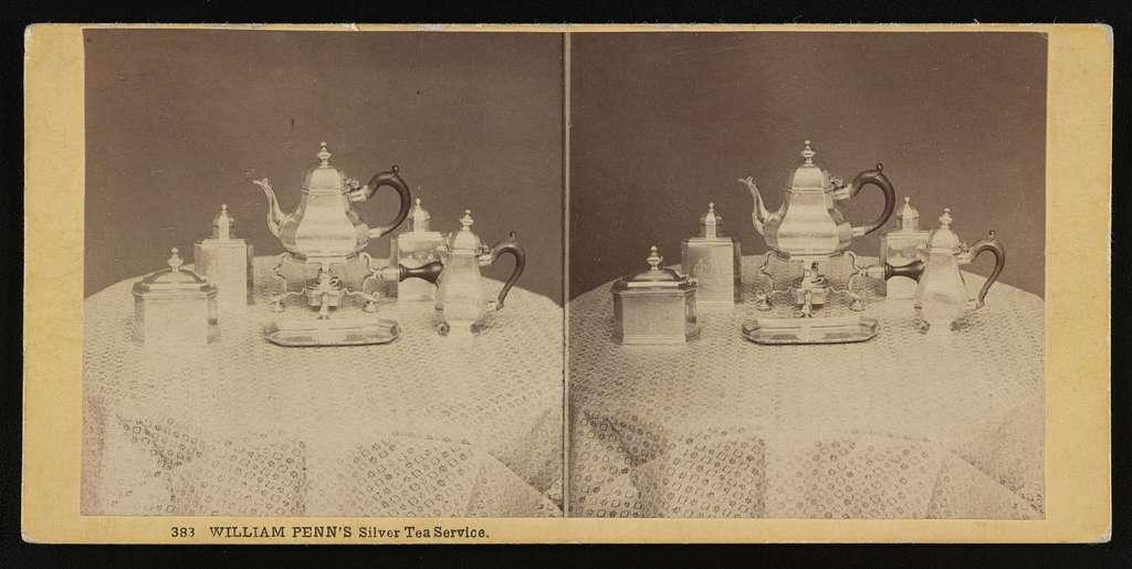 William Penn's silver tea service