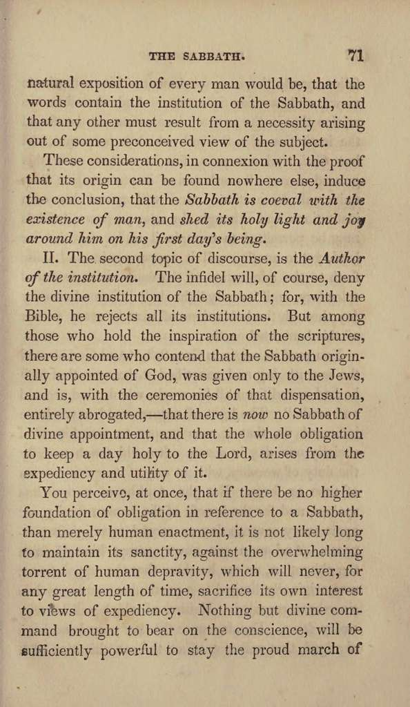 A manual on the Christian Sabbath