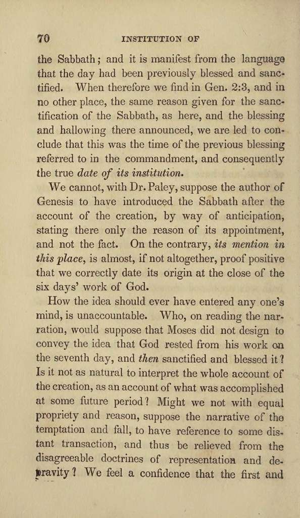 A manual on the Christian Sabbath