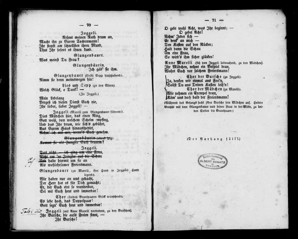 Joggeli. Libretto. German