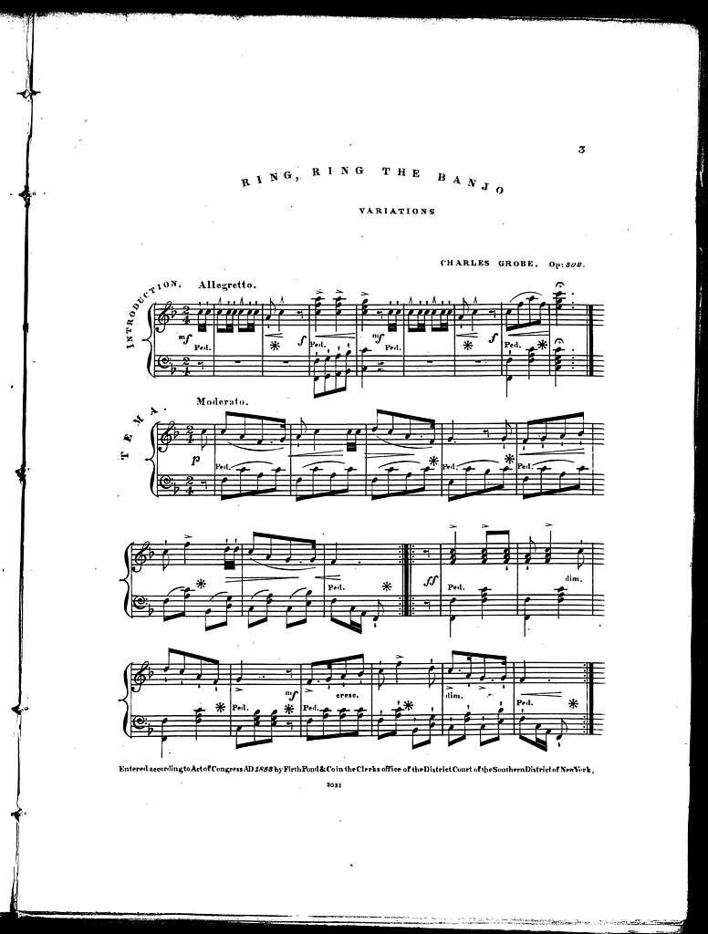 Ring, ring the banjo, variations, op. 302