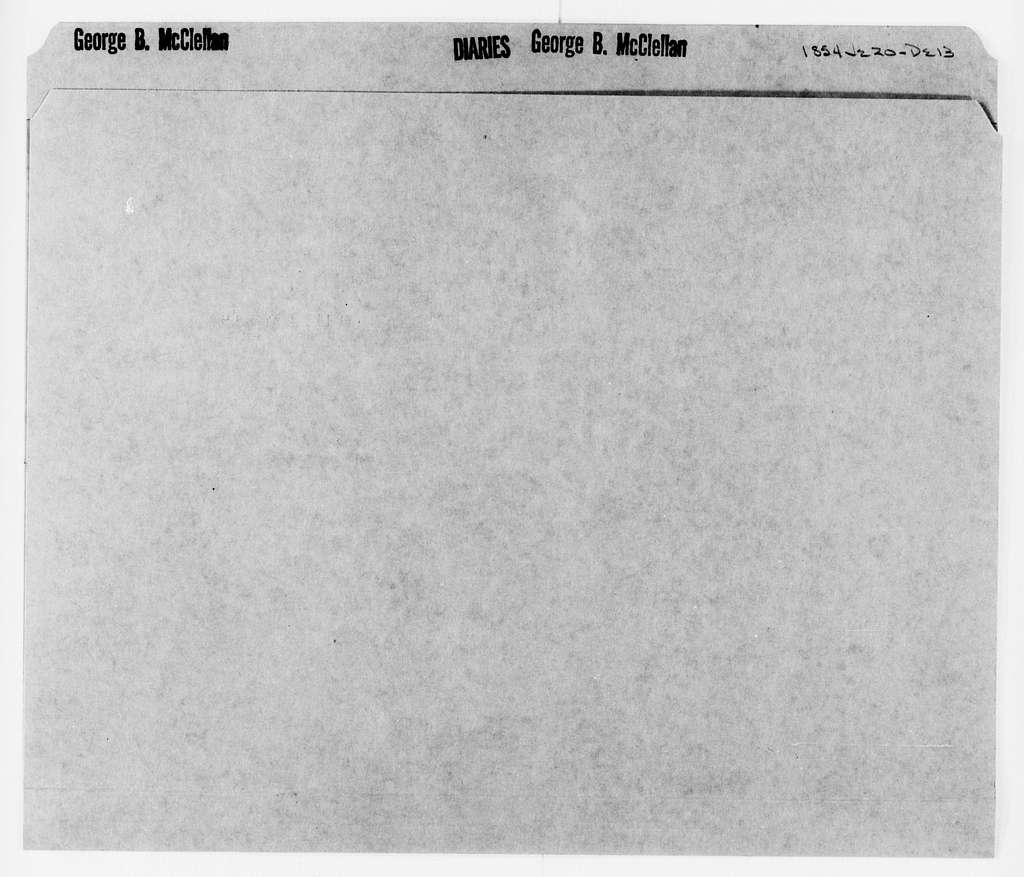 George Brinton McClellan Papers: Diaries, 1846-1884; McClellan, George B. (1826-1885); 1854, June 20-Dec. 13