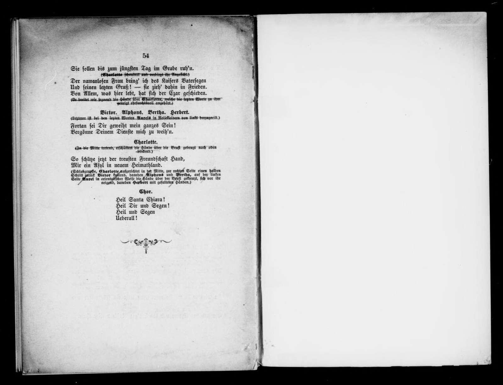 Santa Chiara. Libretto. Libretto. German
