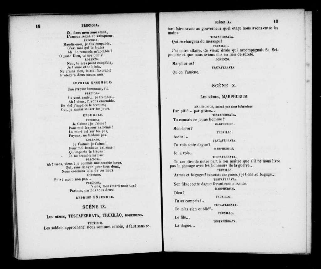 Preciosa. Libretto. French