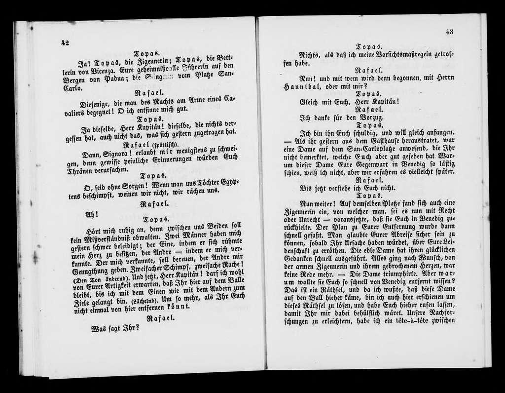 Reine Topaze. Libretto. German