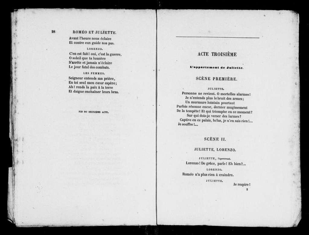 Capuleti e i Montecchi. Libretto. French