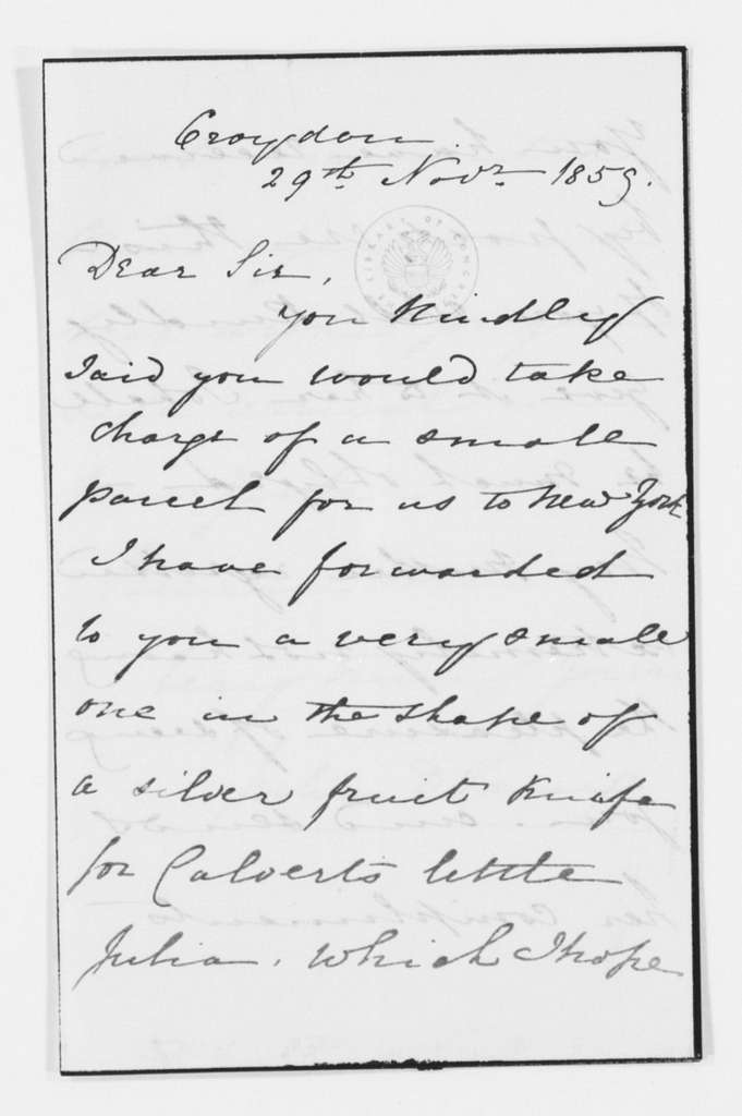 Frederick Law Olmsted Papers: Correspondence, 1838-1928; General Correspondence, 1838-1928; 1859, July-Dec