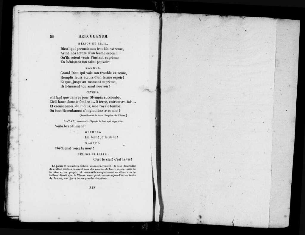 Herculanum. Libretto. French