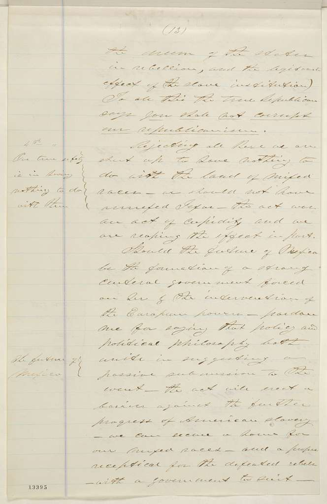 Abraham Lincoln papers: Series 1. General Correspondence. 1833-1916: James Mitchell to Abraham Lincoln, Friday, December 13, 1861 (Colonization of freedmen)