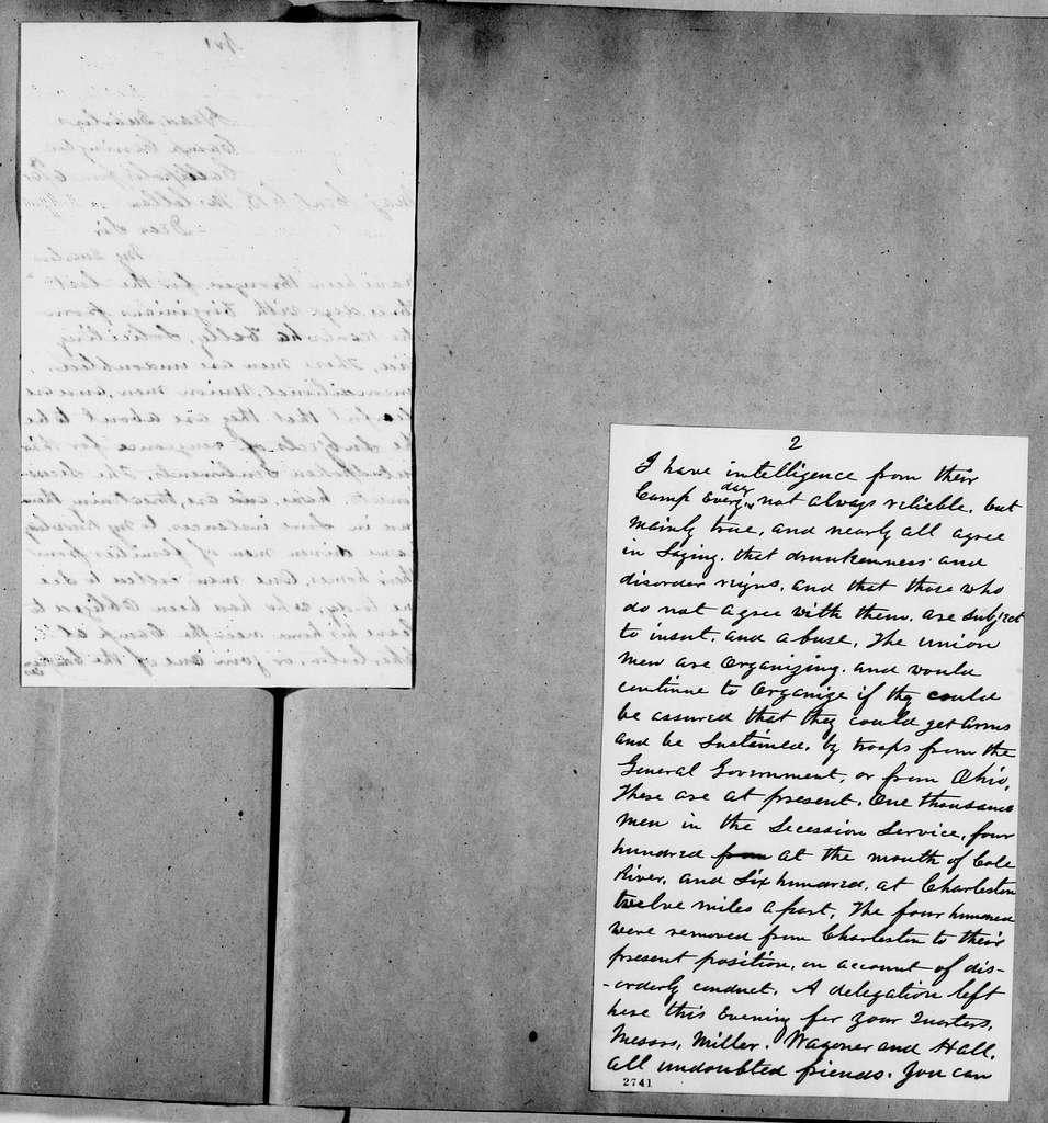 George Brinton McClellan Papers: Correspondence I, 1783-1888; 1861; June 1-21