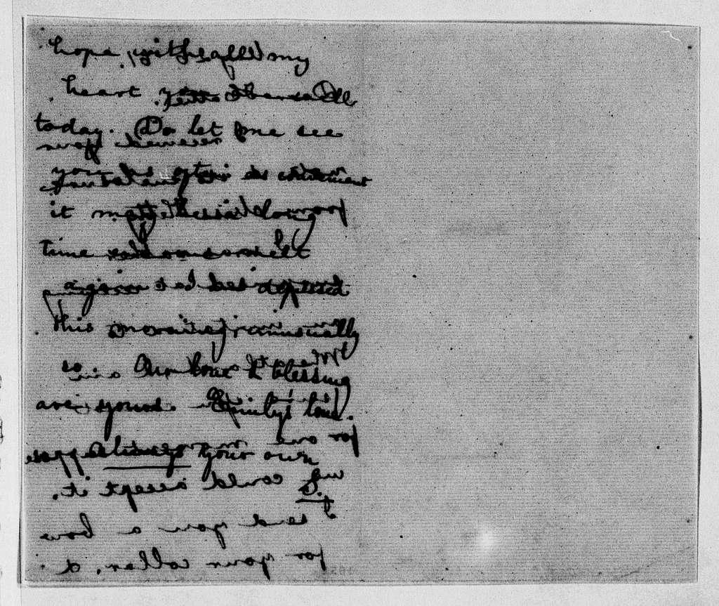 James Buchanan and Harriet Lane Johnston Papers: Series II: Harriet Lane Johnston Papers, 1846-1887; 1861, Jan. 5-July 12