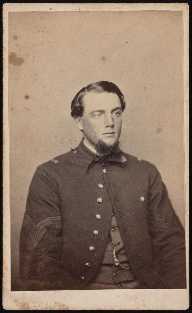 First Sergeant Henry S. Dean of Co. G, 2nd Connecticut Heavy Artillery Regiment in uniform Wolff's Gallery, 10 Royal St., Alexandra, Va