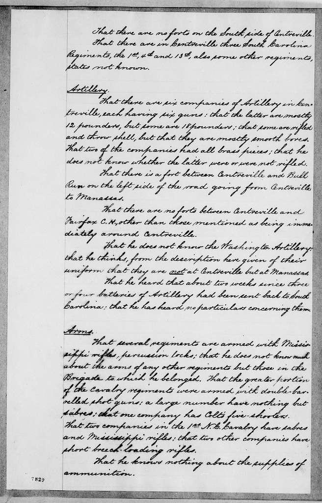 George Brinton McClellan Papers: Correspondence I, 1783-1888; 1862; Jan. 9-17