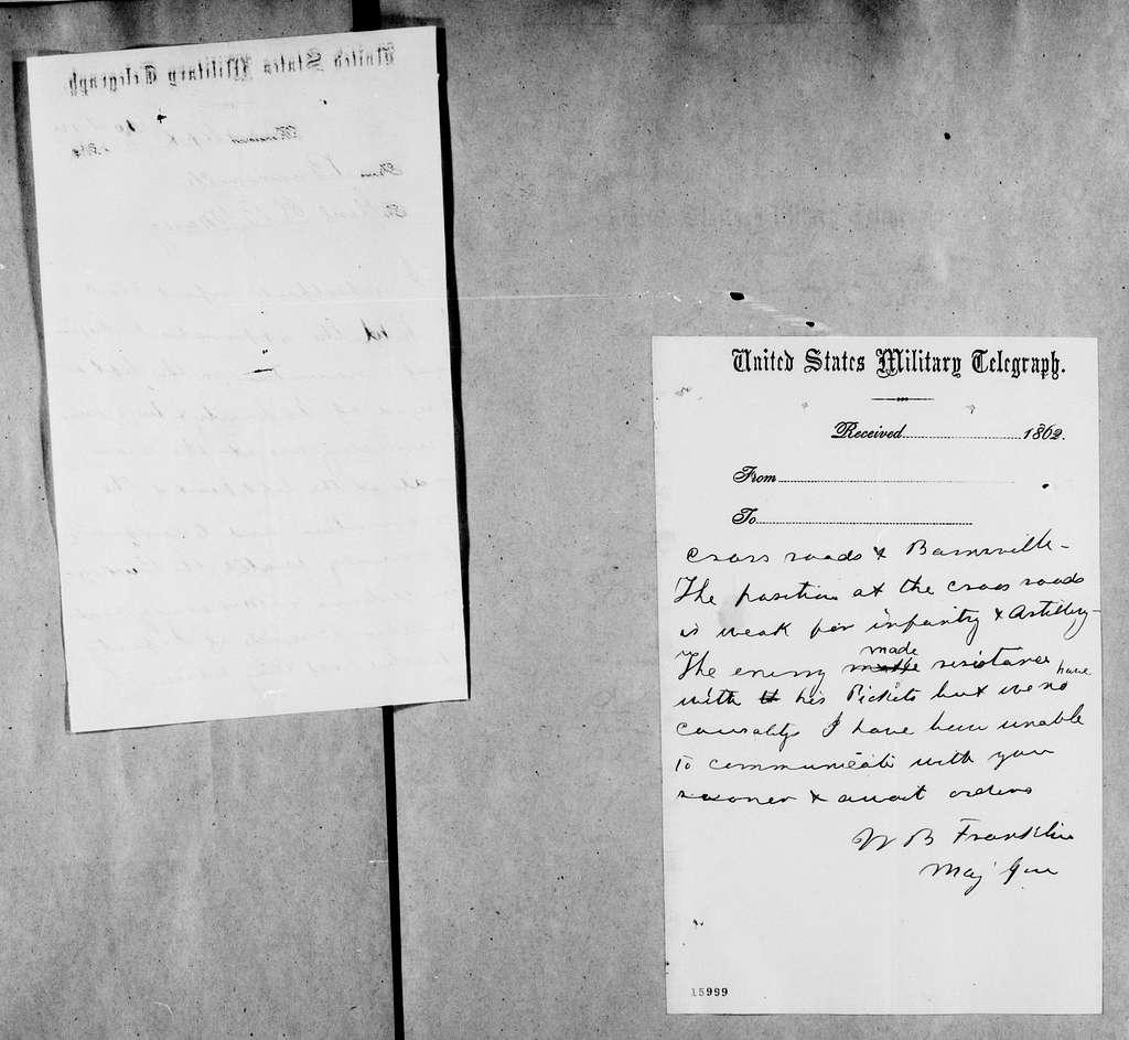 George Brinton McClellan Papers: Correspondence I, 1783-1888; 1862; Sept. 11-15