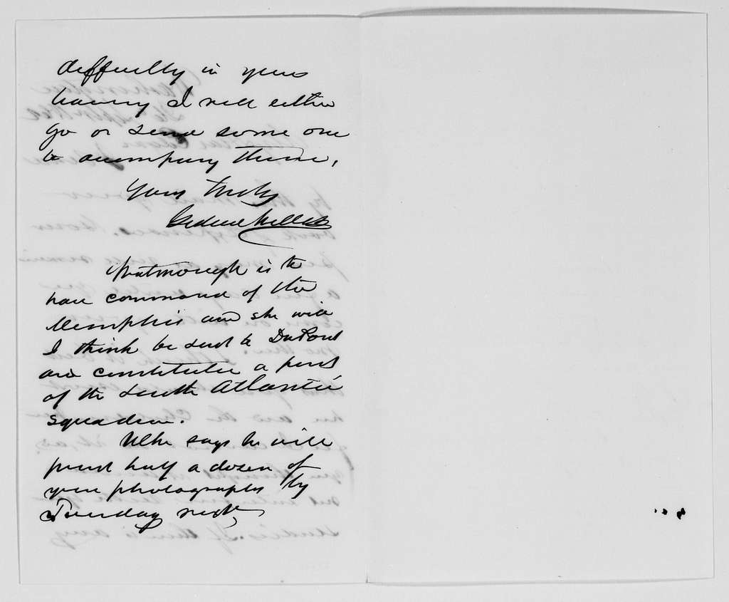 Gideon Welles Papers: Correspondence, 1820-1878; 1862, Sept.-Oct