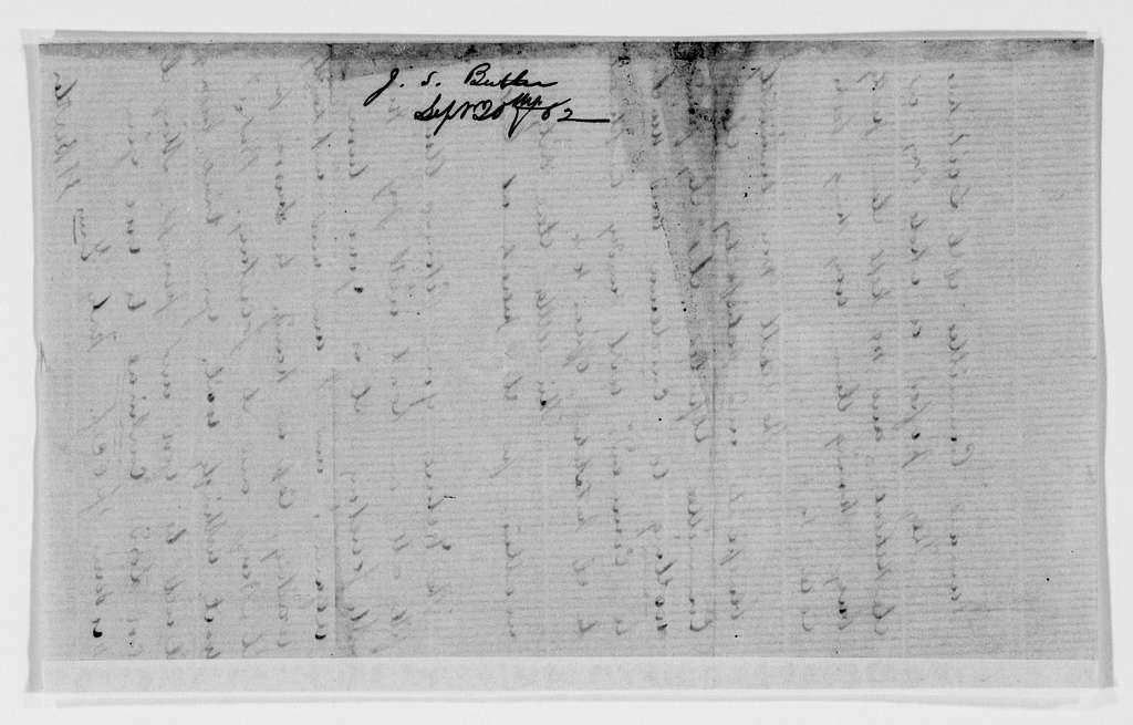Gideon Welles Papers: Correspondence, 1820-1878; 1862, Sept.-Oct