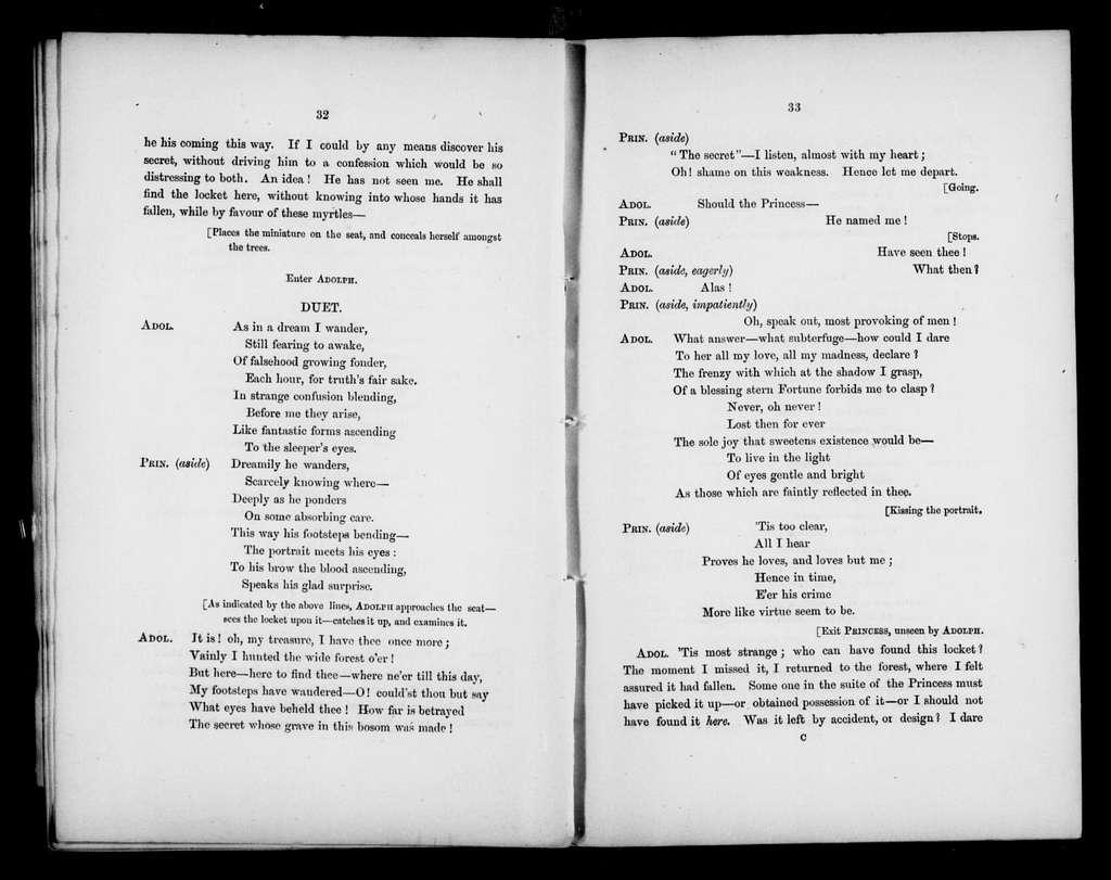 Love's Triumph. Libretto. English