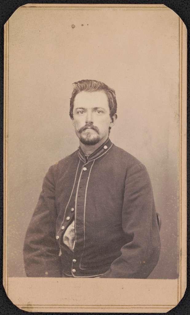 Private Edward Z. Ferry of Co. C, 15th Pennsylvania Cavalry Regiment in uniform