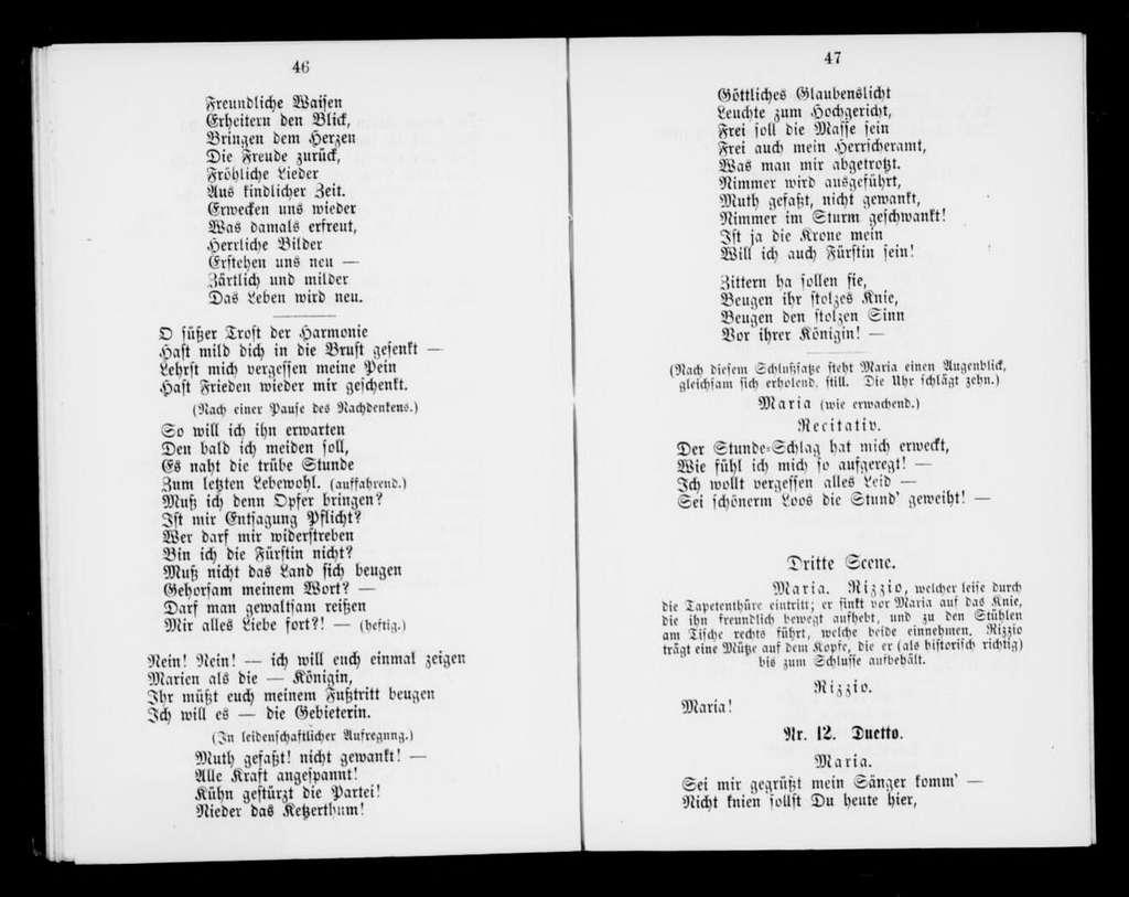 Rizzio. Libretto. German