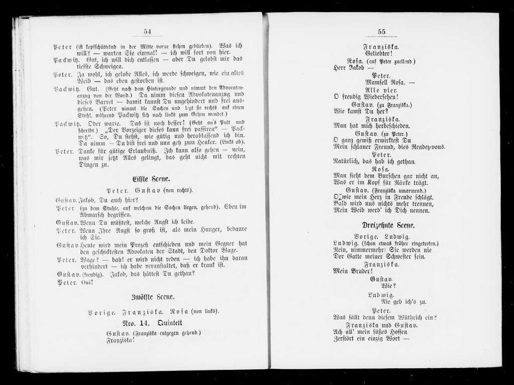 Zweite Jakob. Libretto. German