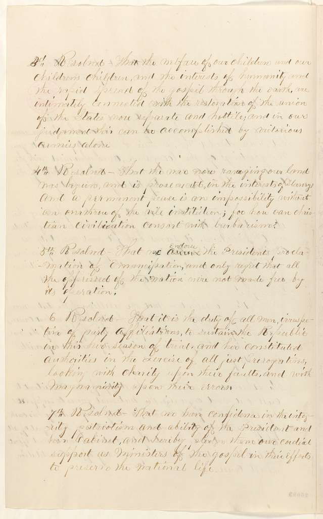 Abraham Lincoln papers: Series 1. General Correspondence. 1833-1916: John Wheeler to Abraham Lincoln, Monday, September 07, 1863 (Sends resolutions of the North Ohio Conference of the Methodist Episcopal Church)