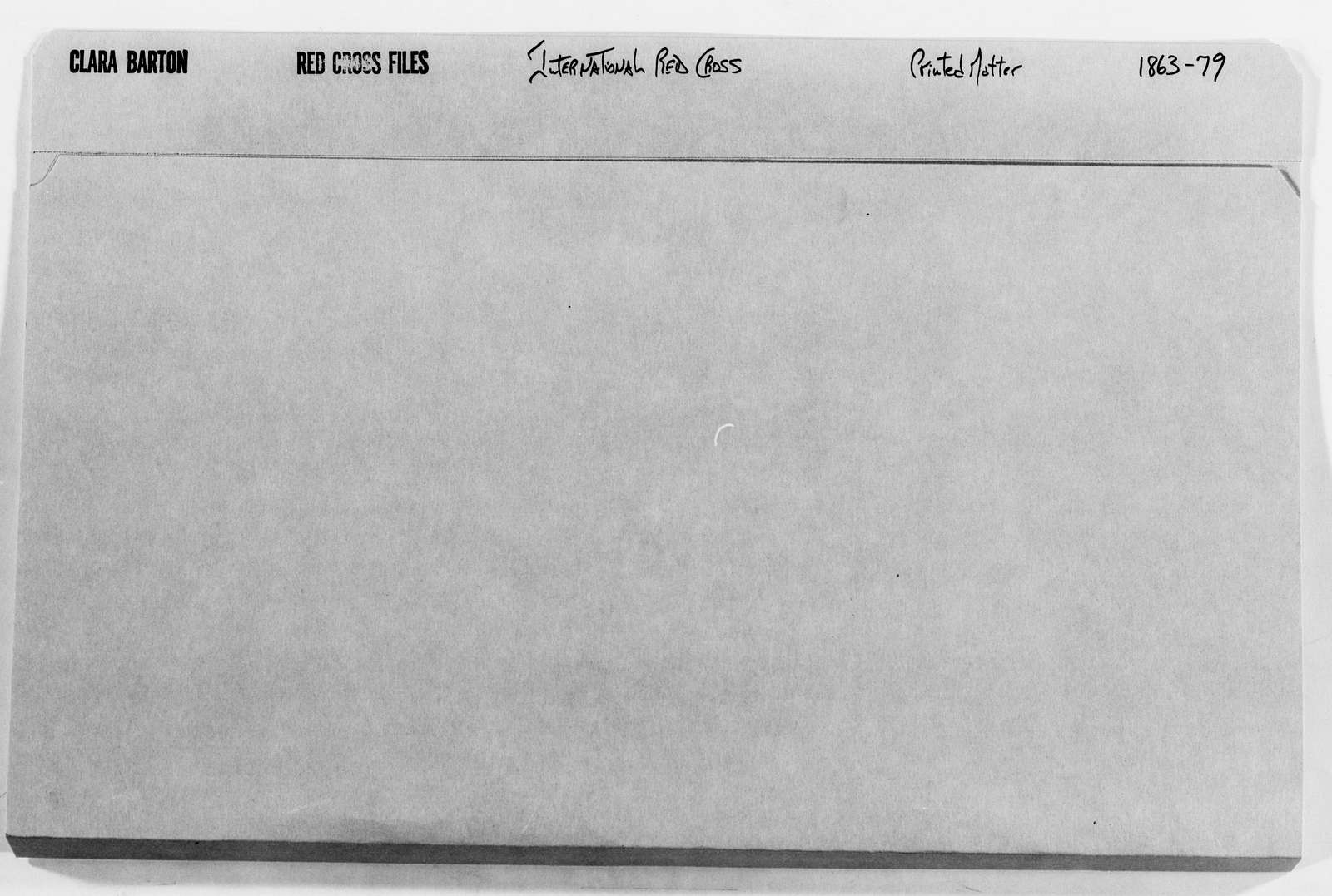 Clara Barton Papers: Red Cross File, 1863-1957; International Committee of the Red Cross, 1863-1919; Printed matter; 1863-1895
