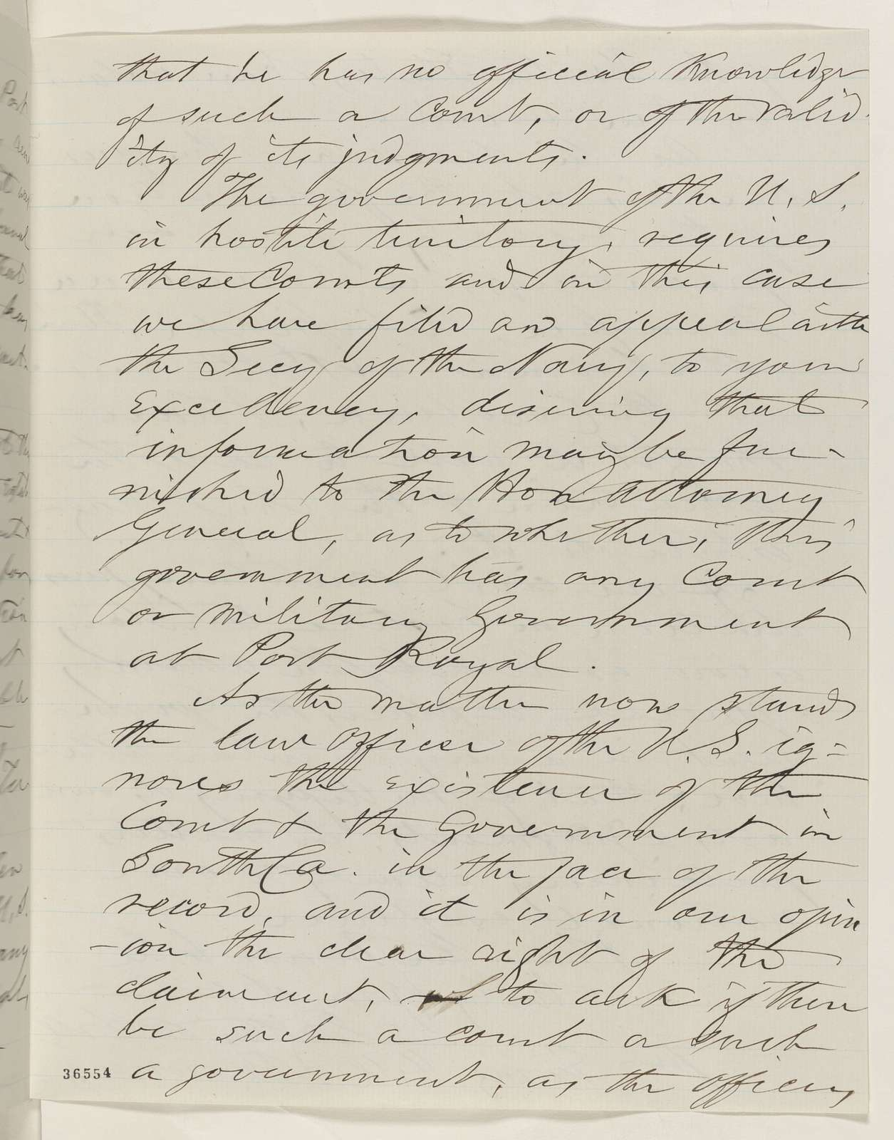 Abraham Lincoln papers: Series 1. General Correspondence. 1833-1916: Britton A. Hill to Abraham Lincoln, Thursday, September 22, 1864 (Payment of judgment rendered by court at Port Royal, South Carolina)