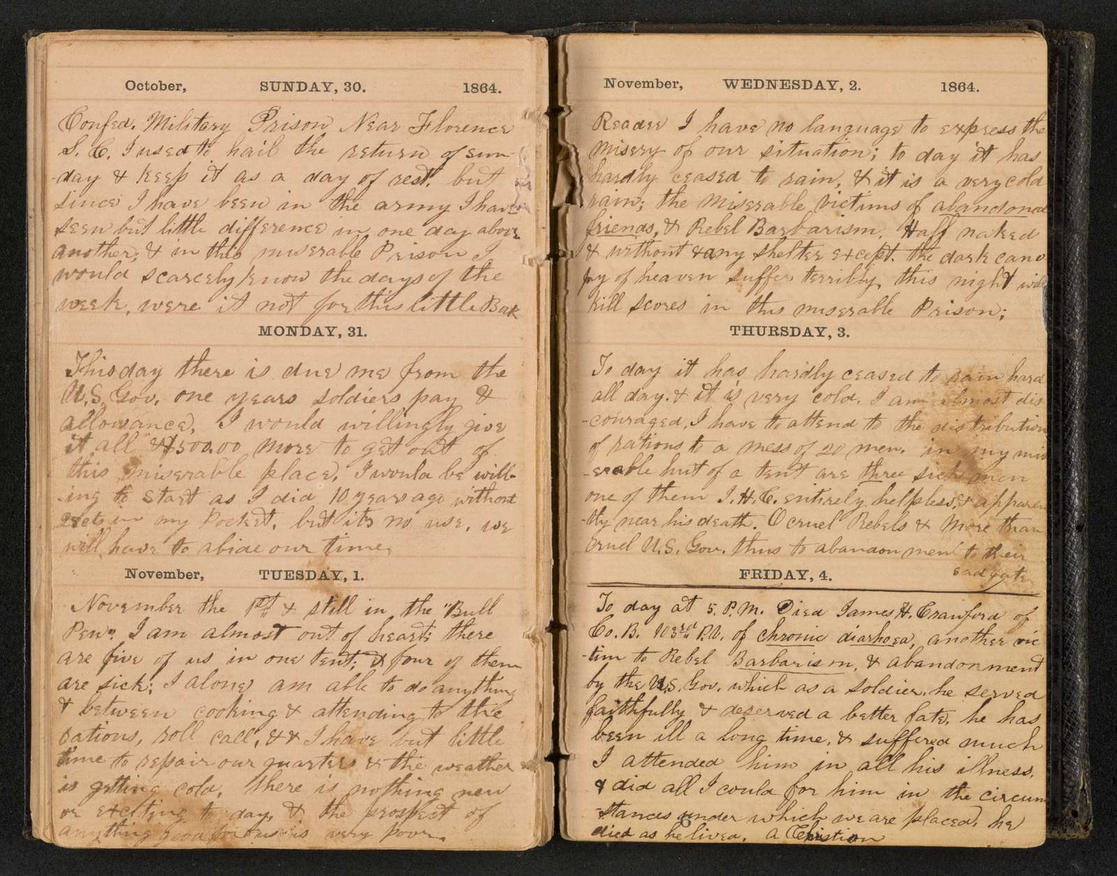 Samuel J. Gibson diary and correspondence, 1864., Diary, 1864