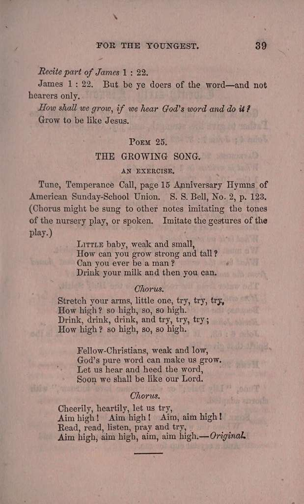 Texts and hymns for the youngest; a book to learn or sing from at home or in Sunday-school. Arranged in fifty-two little lessons;