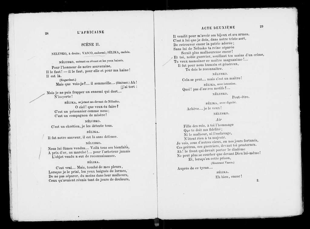 Africaine. Libretto. French