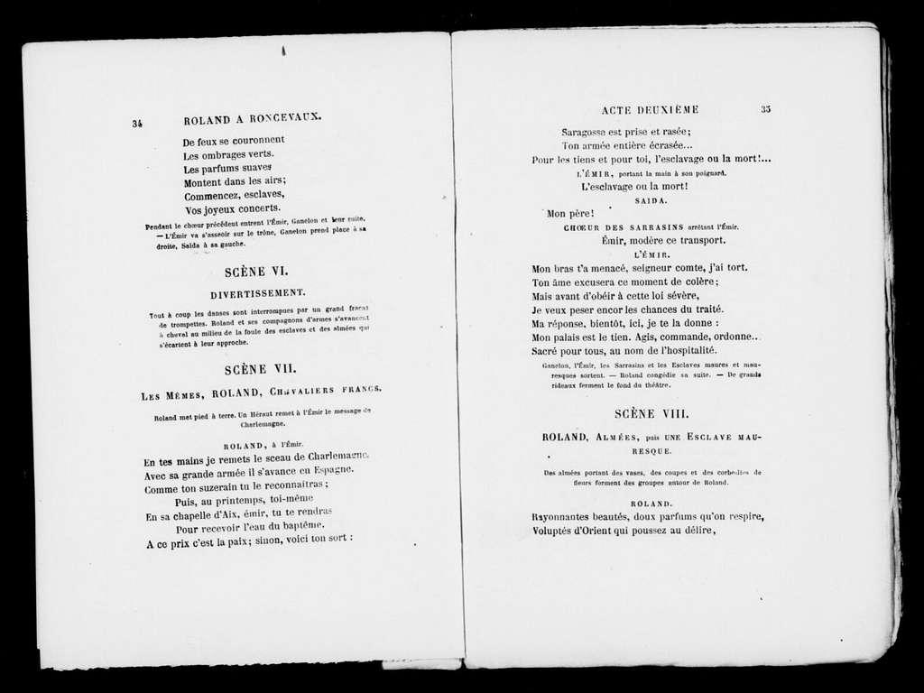 Roland a ̀Roncevaux. Libretto. French