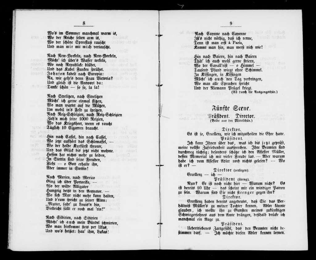 Nimrod Posse mit Gesang in einem Akt