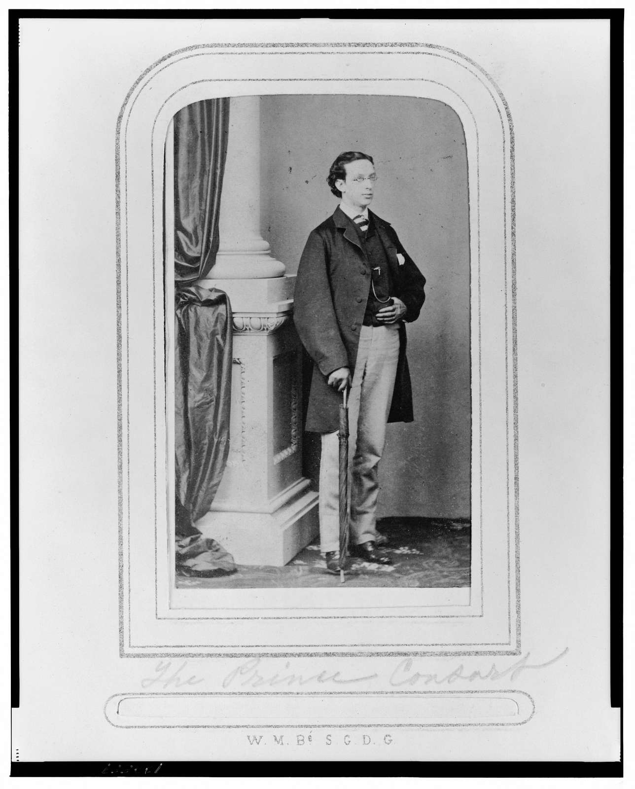 Possibly Frederick III, Crown Prince of Prussia, full-length portrait, standing, facing right