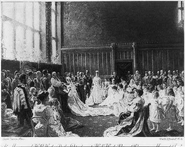 The marriage of Princess Mary of Cambridge and Prince Teck. 1866