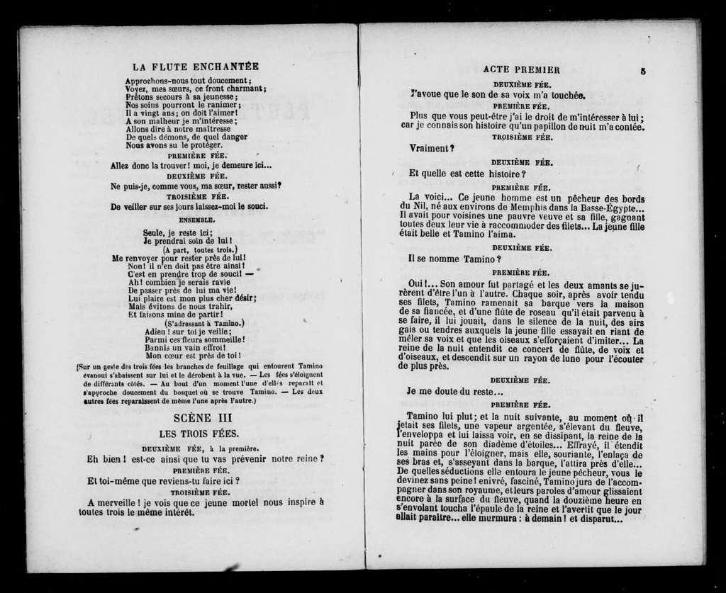 Zauberflöte. Libretto. French