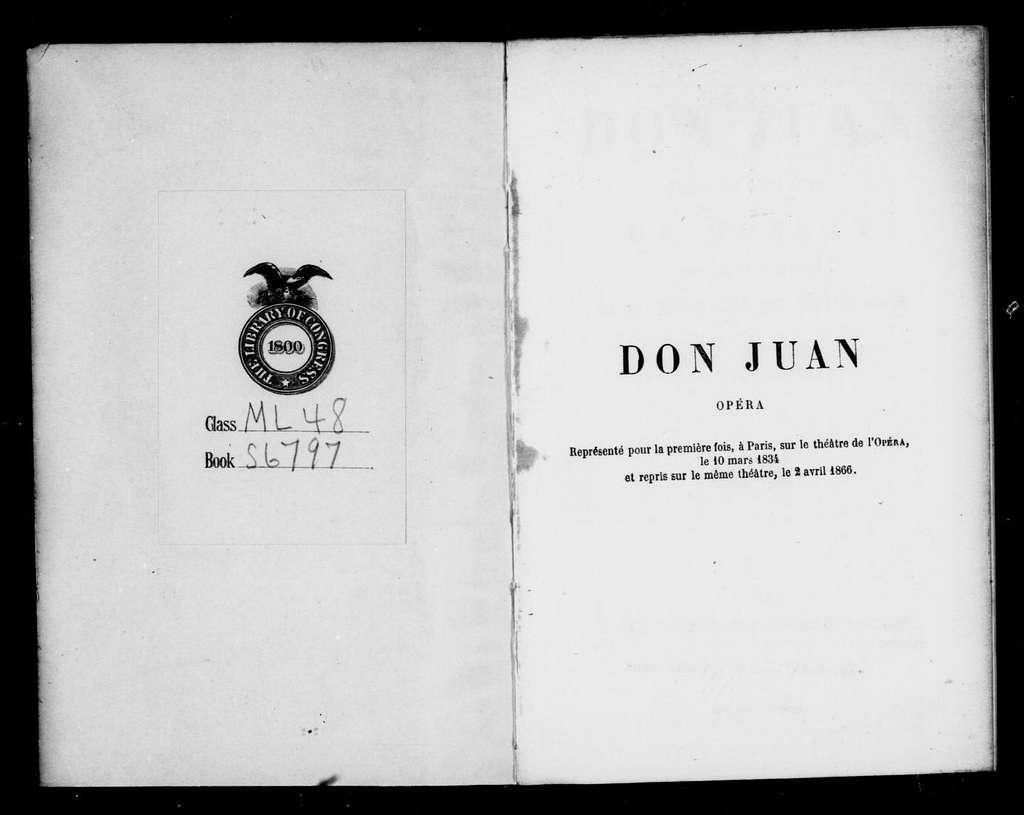 Don Giovanni. Libretto. French