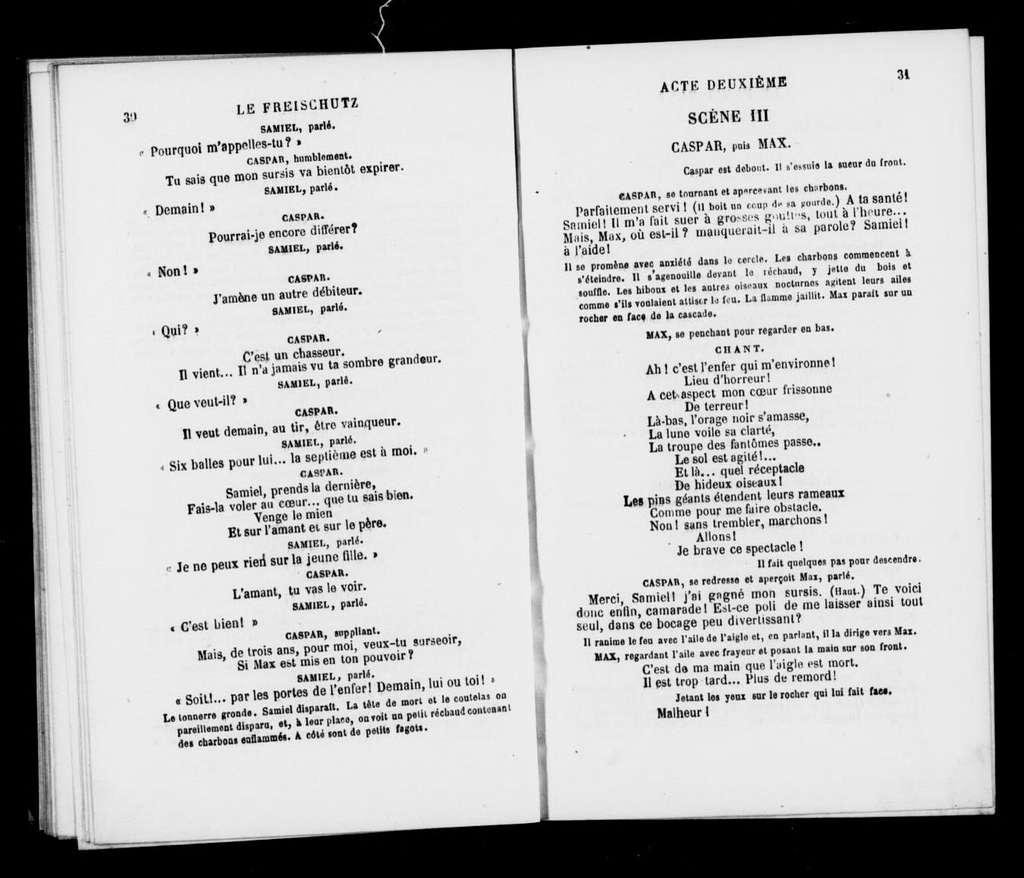 Freischütz. Libretto. French
