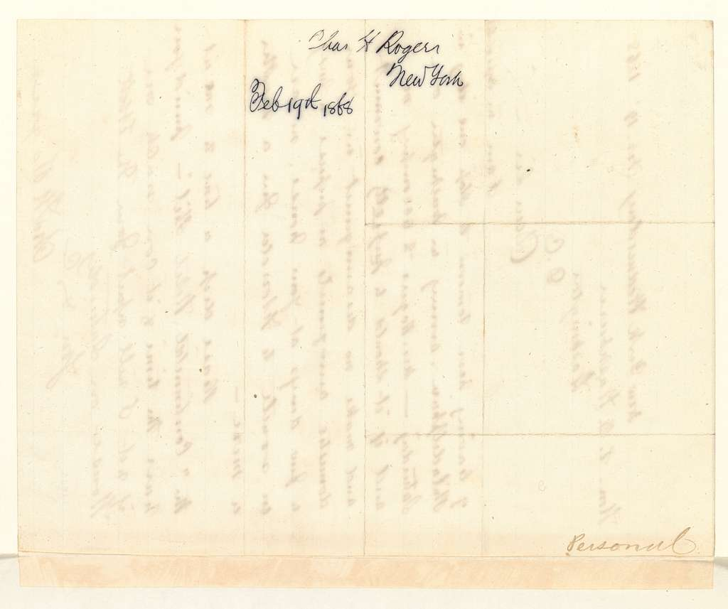 E. B. Washburne Papers: Bound volumes, letters received; 1868; Feb. 8-Mar. 6