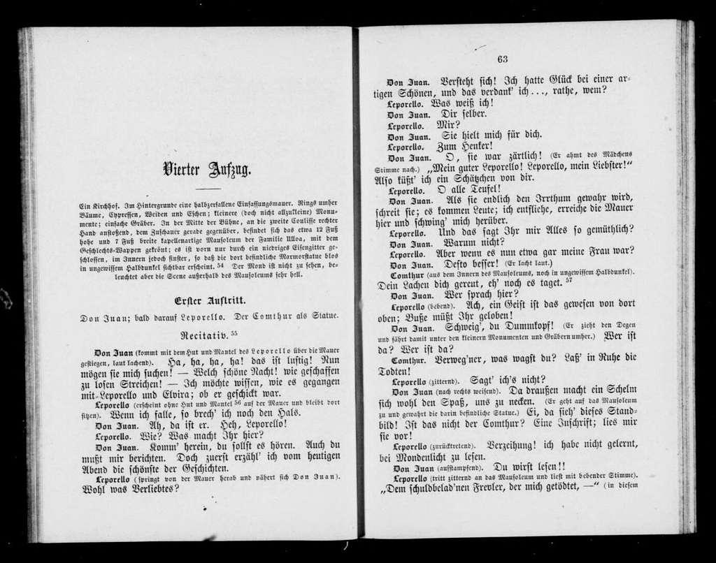 Don Giovanni. Libretto. German