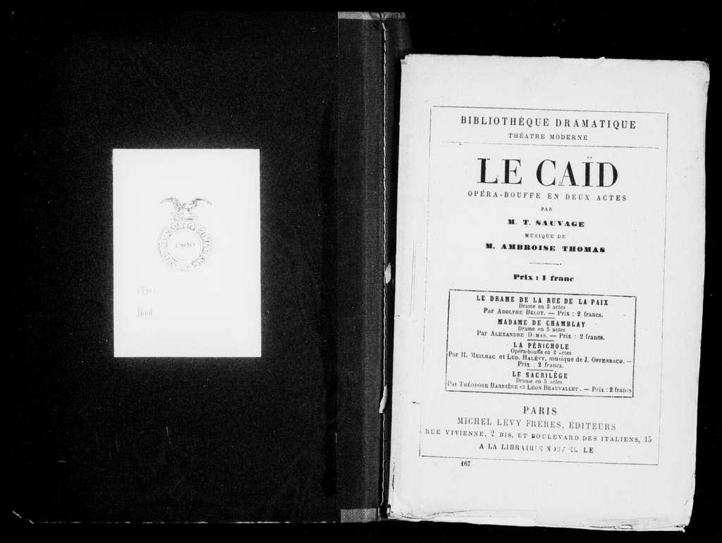 Caïd. Libretto. French