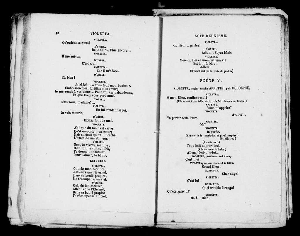 Traviata. Libretto. French