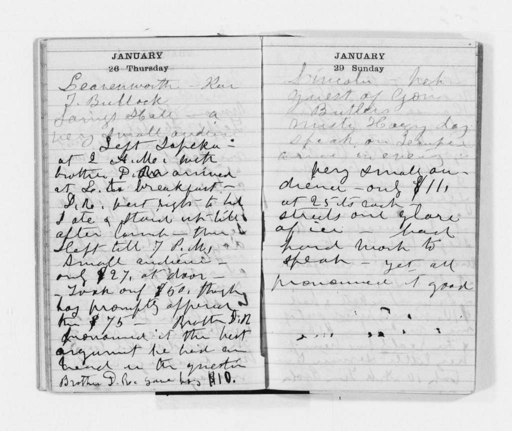 Susan B. Anthony Papers: Daybook and Diaries, 1856-1906; Diaries; 1871