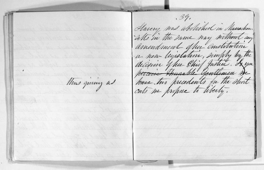 Elizabeth Cady Stanton Papers: Speeches and Writings, 1848-1902; Speeches; 1872, 12 Jan., speech before Judiciary Committee, U.S. Senate