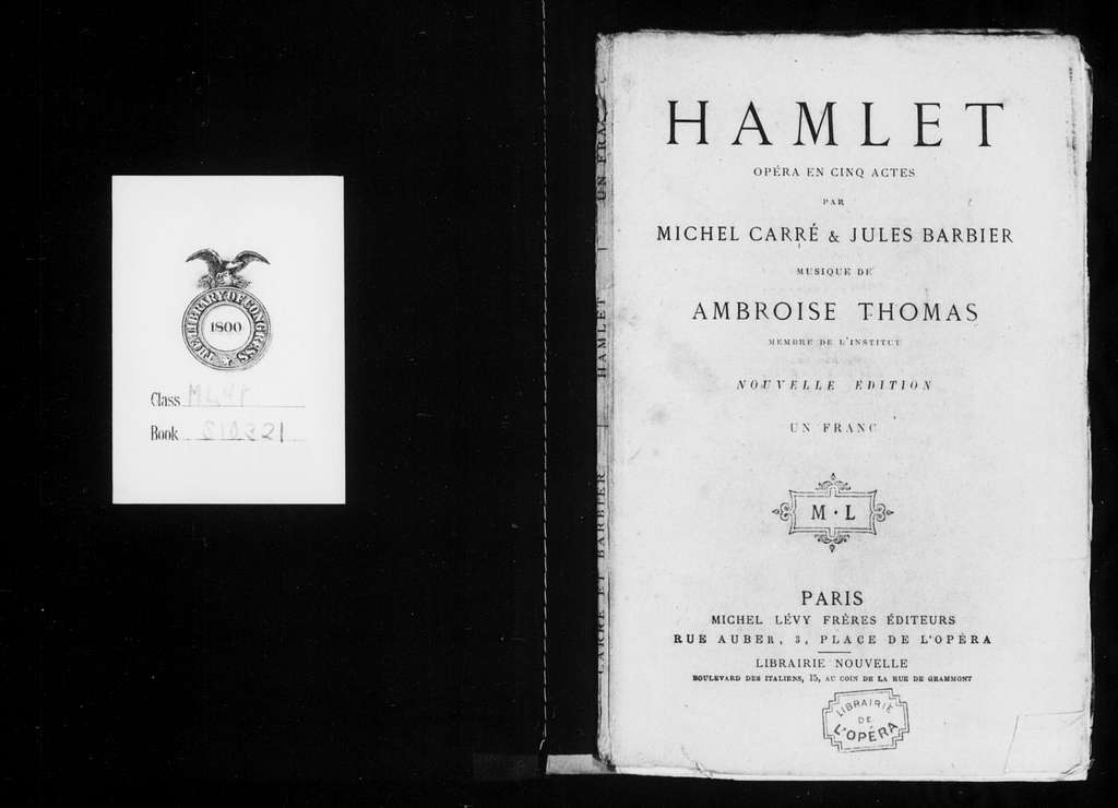 Hamlet. Libretto. French