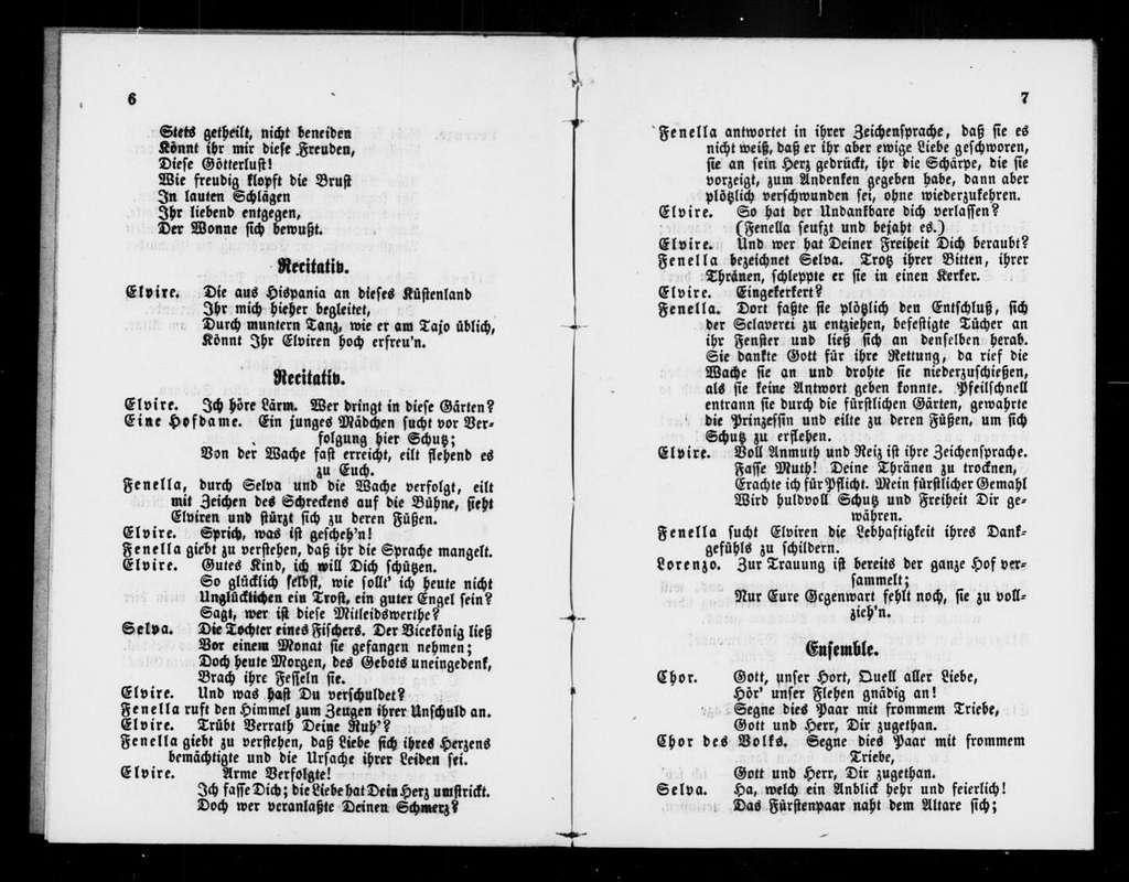 Muette de Portici. Libretto. German