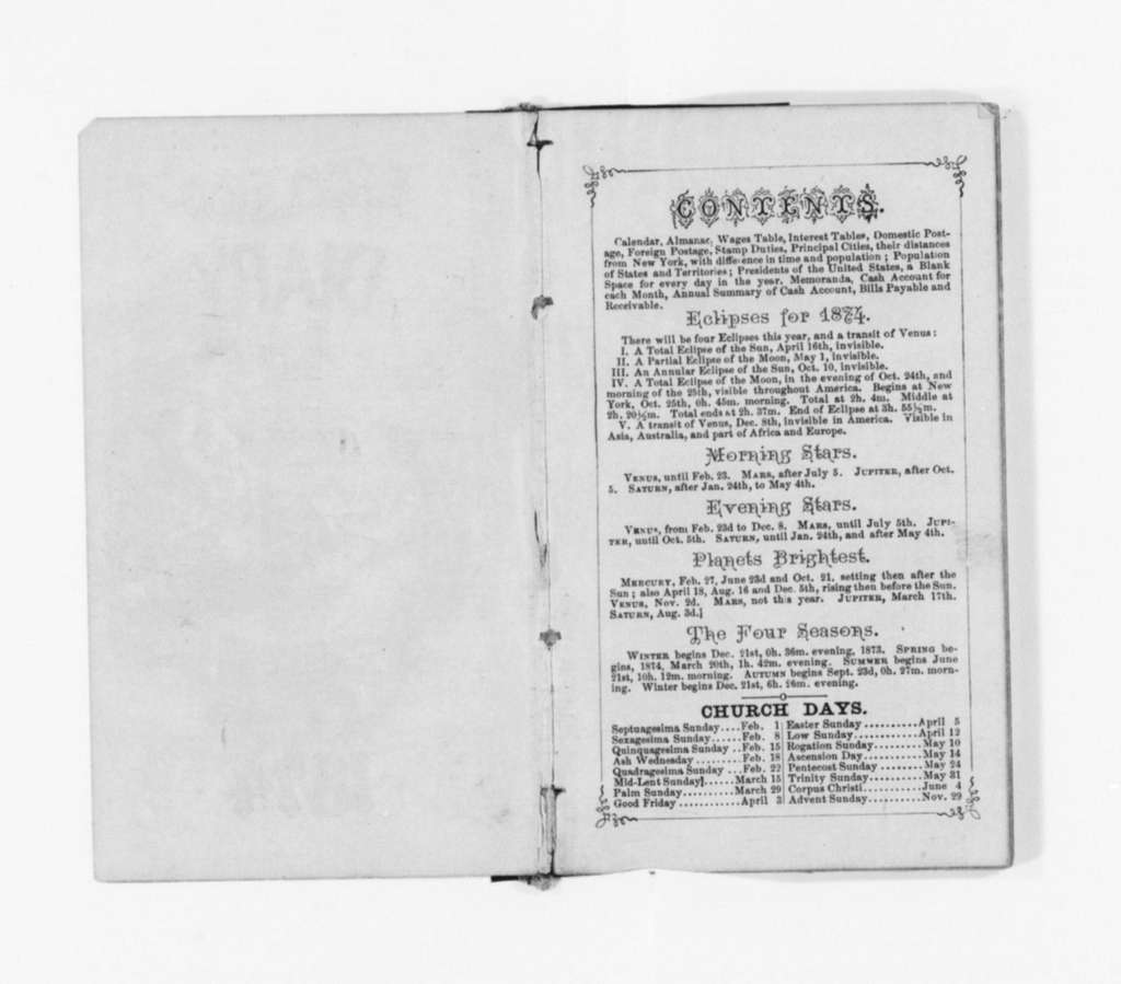 Susan B. Anthony Papers: Daybook and Diaries, 1856-1906; Diaries; 1874
