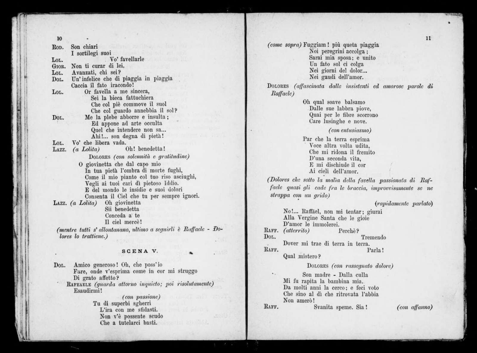 Catalana. Libretto. Italian