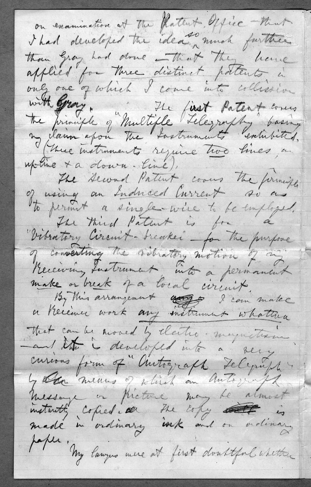 Letter from Alexander Graham Bell to Alexander Melville Bell and Eliza Symonds Bell, March 5, 1875