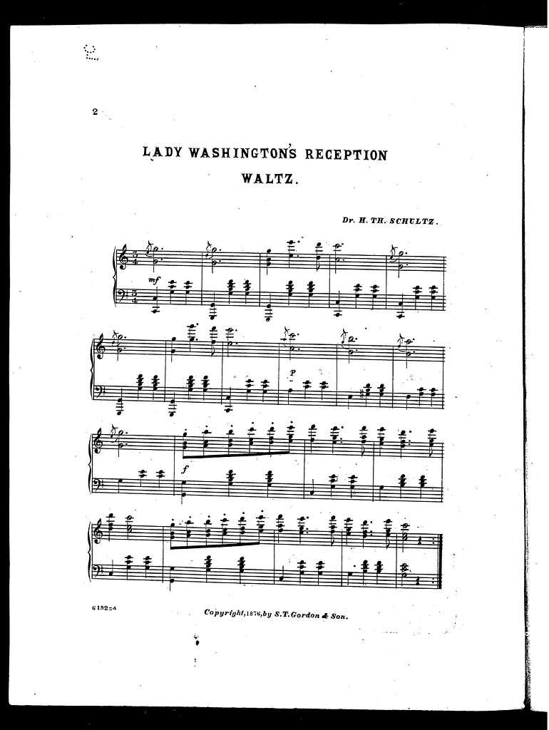 Lady Washington's reception waltz