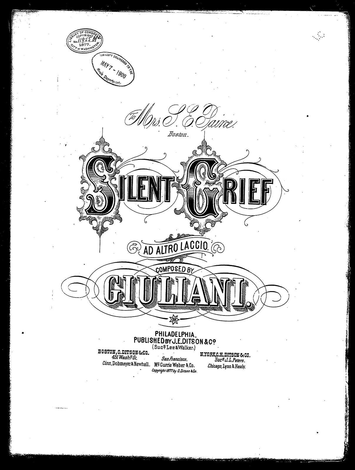 Ad alto laccio - Silent grief